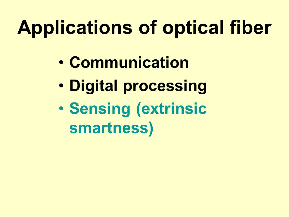 Applications of optical fiber