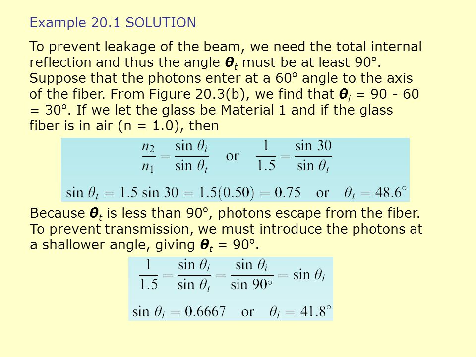 Example 20.1 SOLUTION