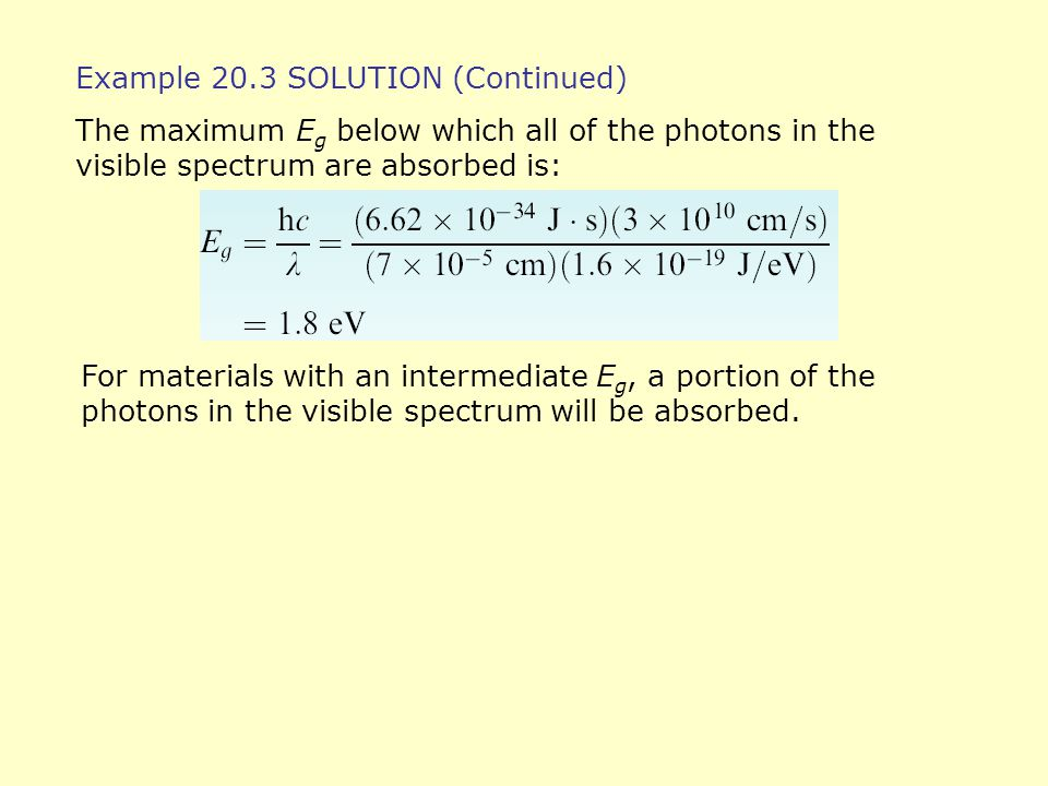 Example 20.3 SOLUTION (Continued)