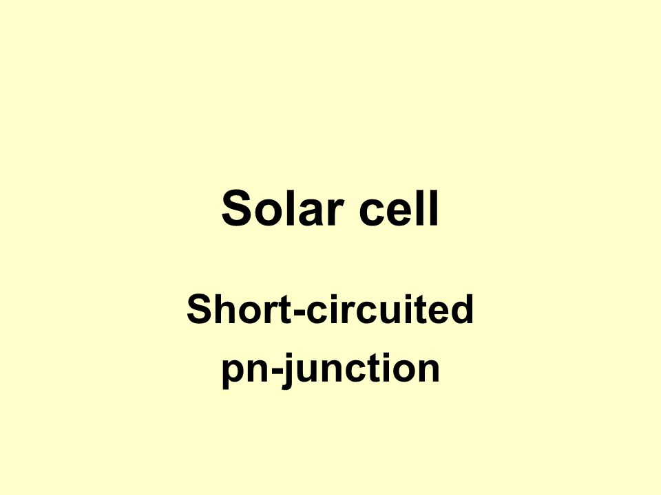 Short-circuited pn-junction