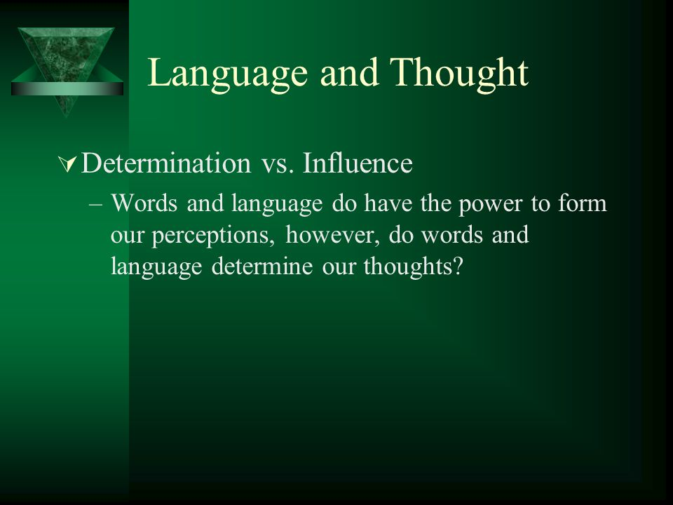 Language and Thought Determination vs. Influence