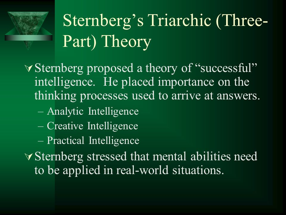Sternberg's Triarchic (Three-Part) Theory