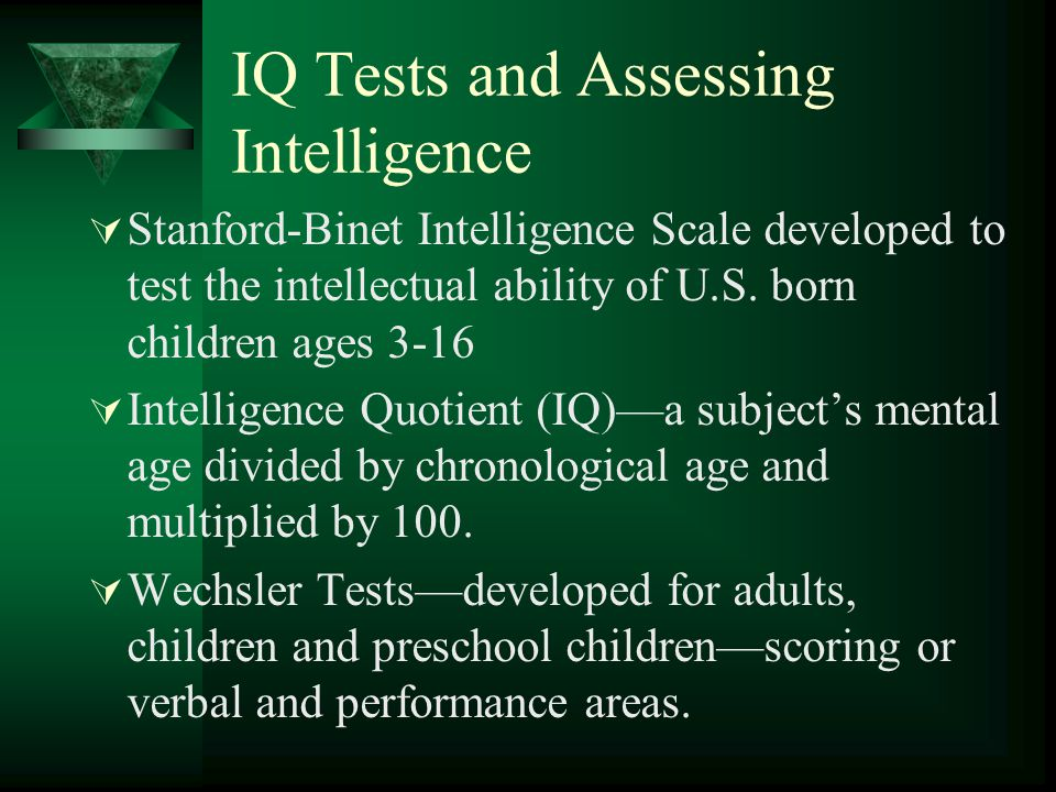 IQ Tests and Assessing Intelligence
