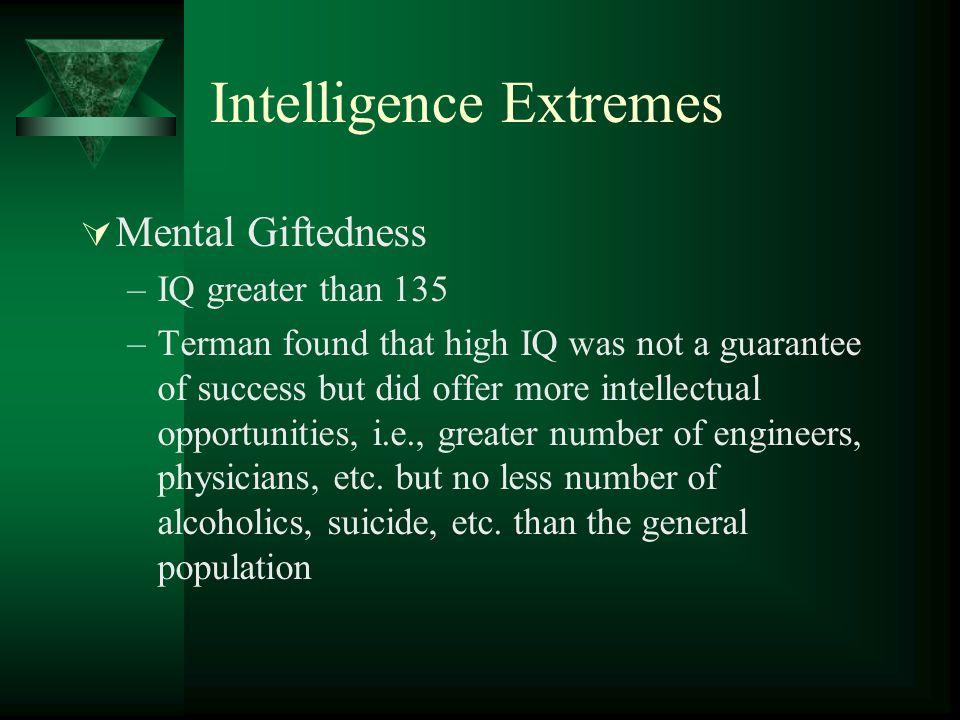 Intelligence Extremes