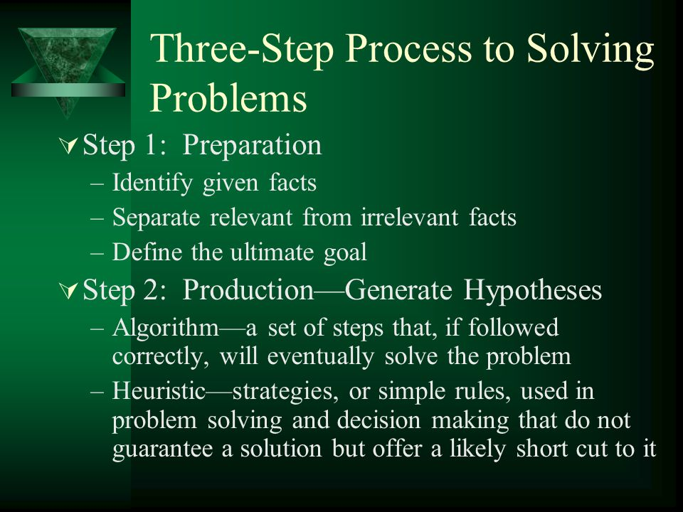 Three-Step Process to Solving Problems