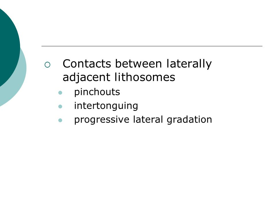 Contacts between laterally adjacent lithosomes