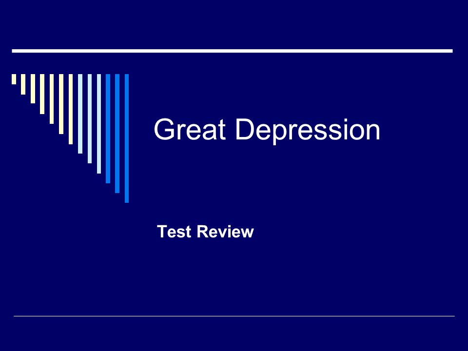 Great Depression Test Review