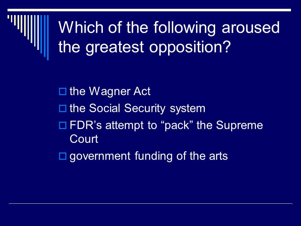 Which of the following aroused the greatest opposition