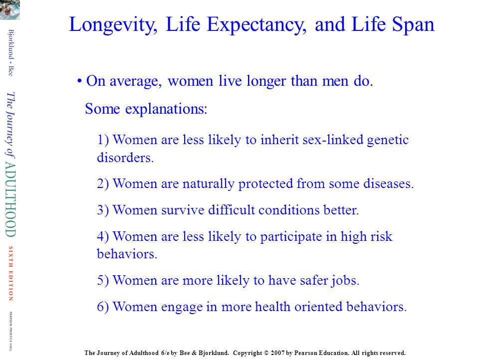 Longevity, Life Expectancy, and Life Span