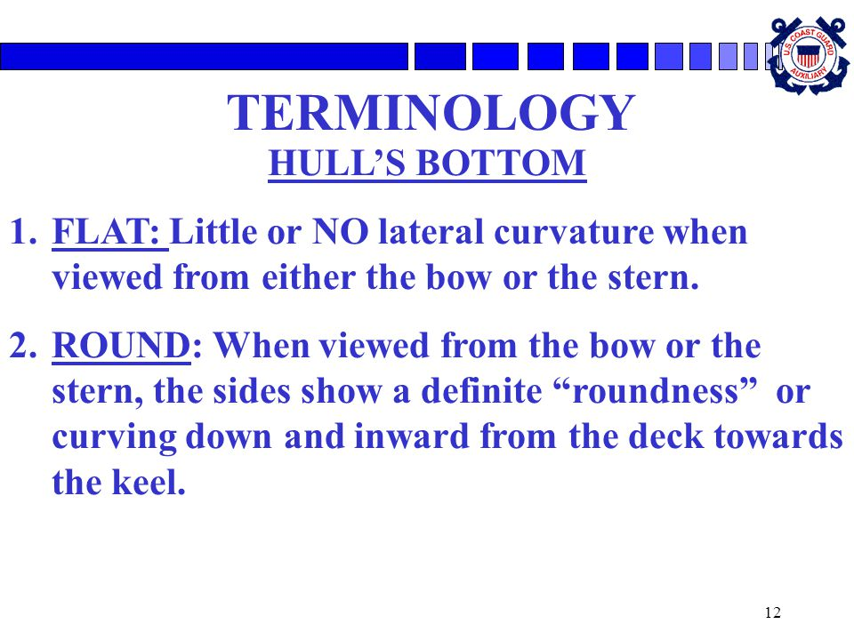 TERMINOLOGY HULL'S BOTTOM