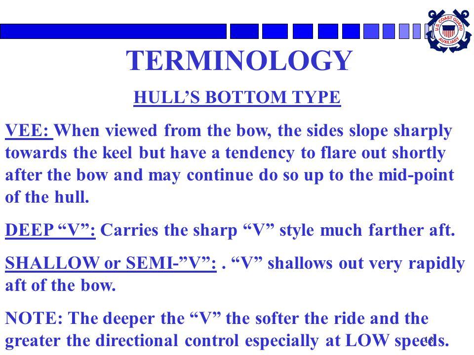 TERMINOLOGY HULL'S BOTTOM TYPE