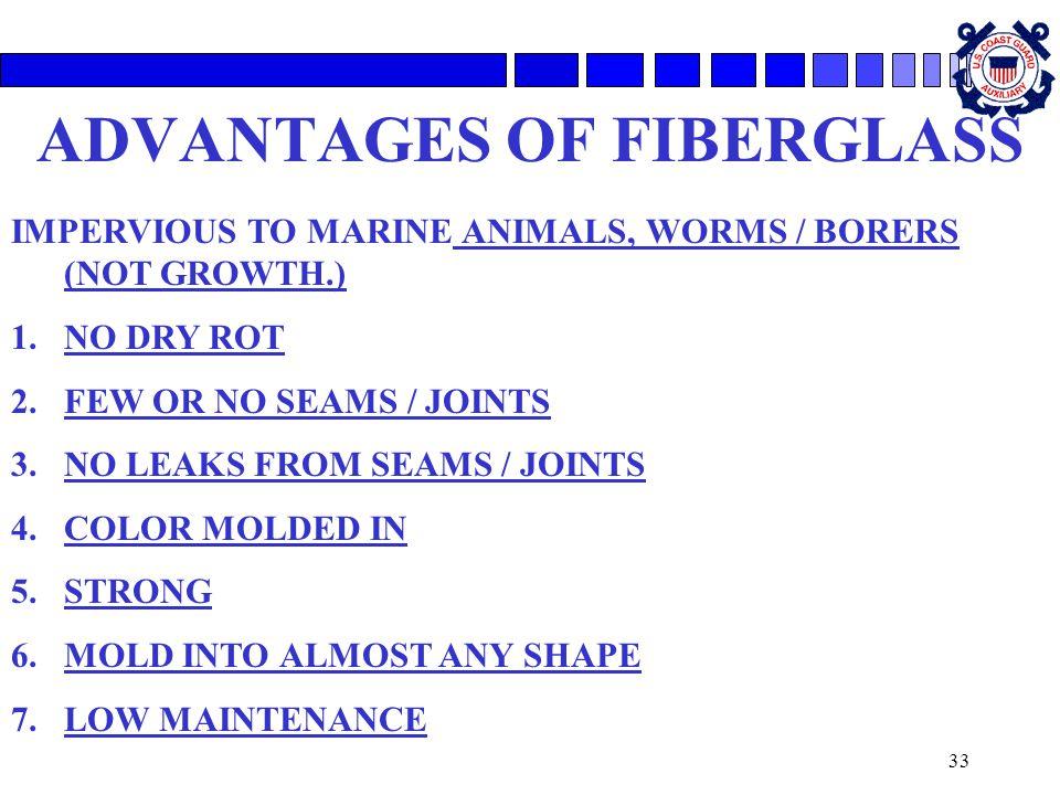 ADVANTAGES OF FIBERGLASS