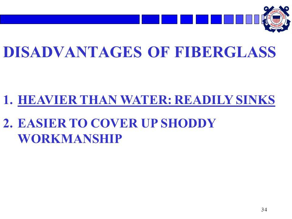 DISADVANTAGES OF FIBERGLASS