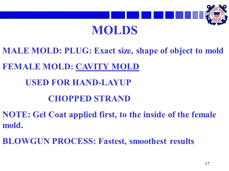 MOLDS MALE MOLD: PLUG: Exact size, shape of object to mold
