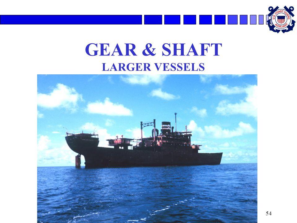 GEAR & SHAFT LARGER VESSELS
