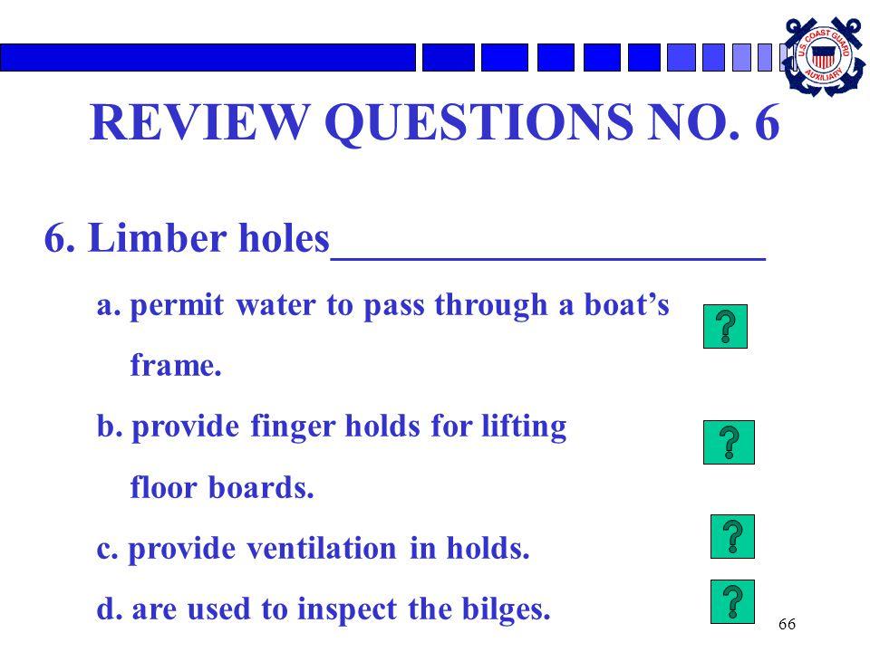 6. Limber holes____________________