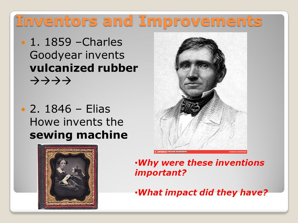 Inventors and Improvements