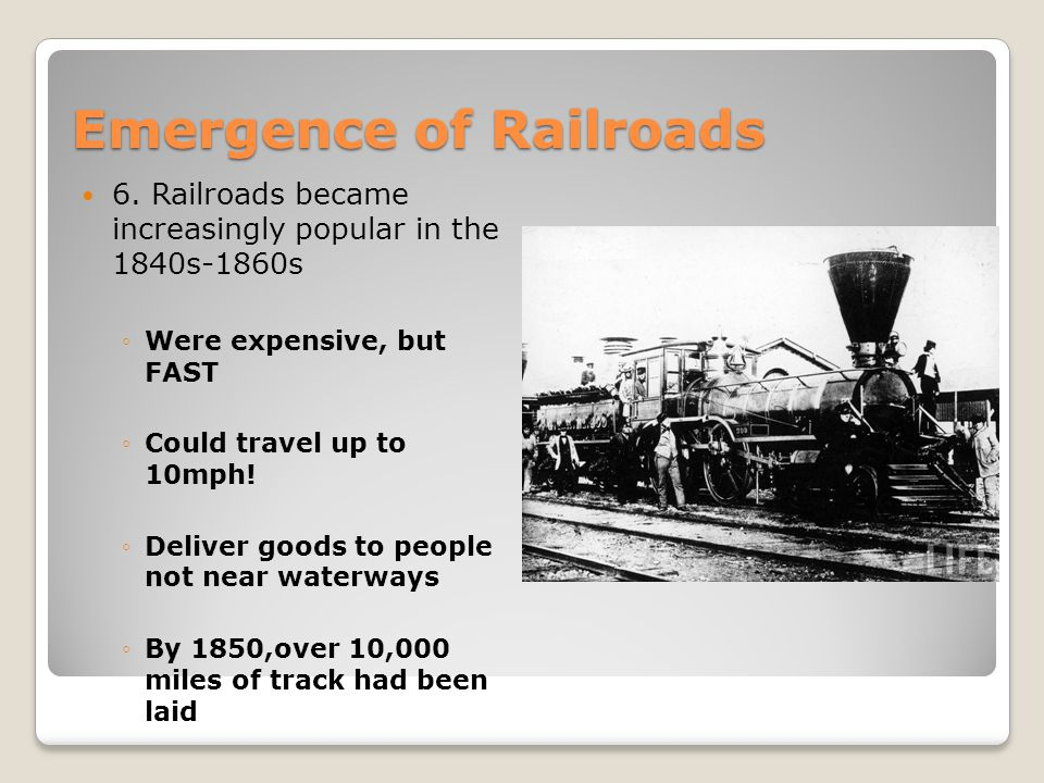 Emergence of Railroads
