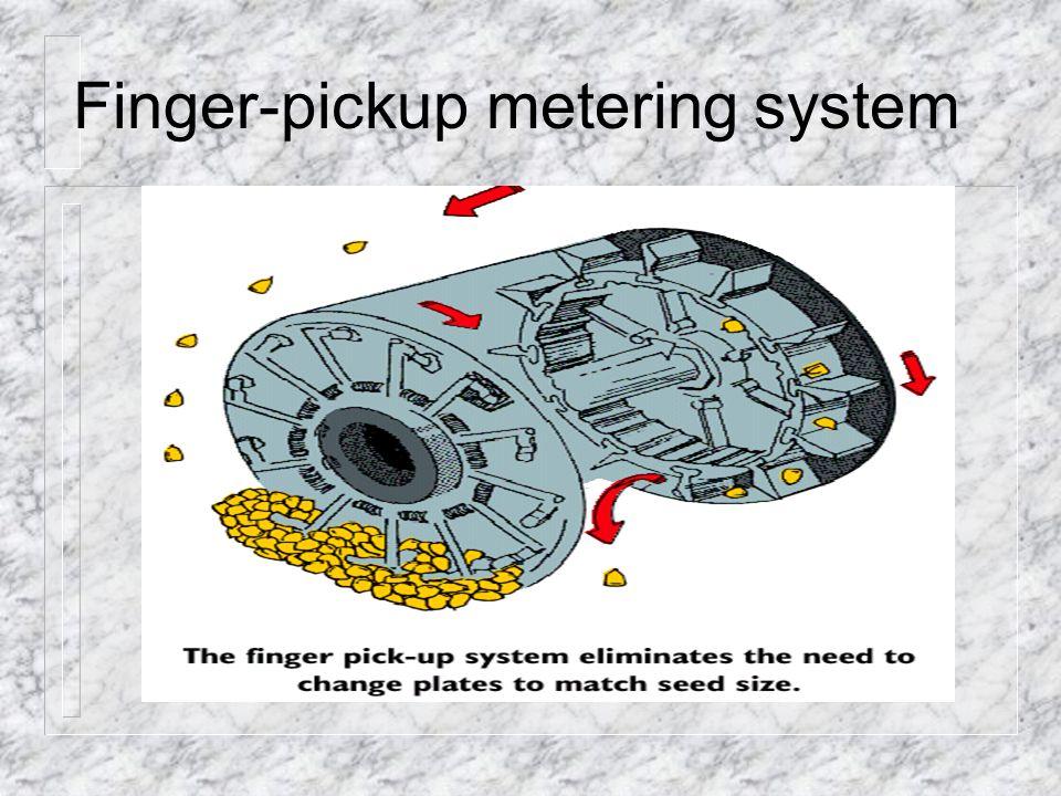 Finger-pickup metering system