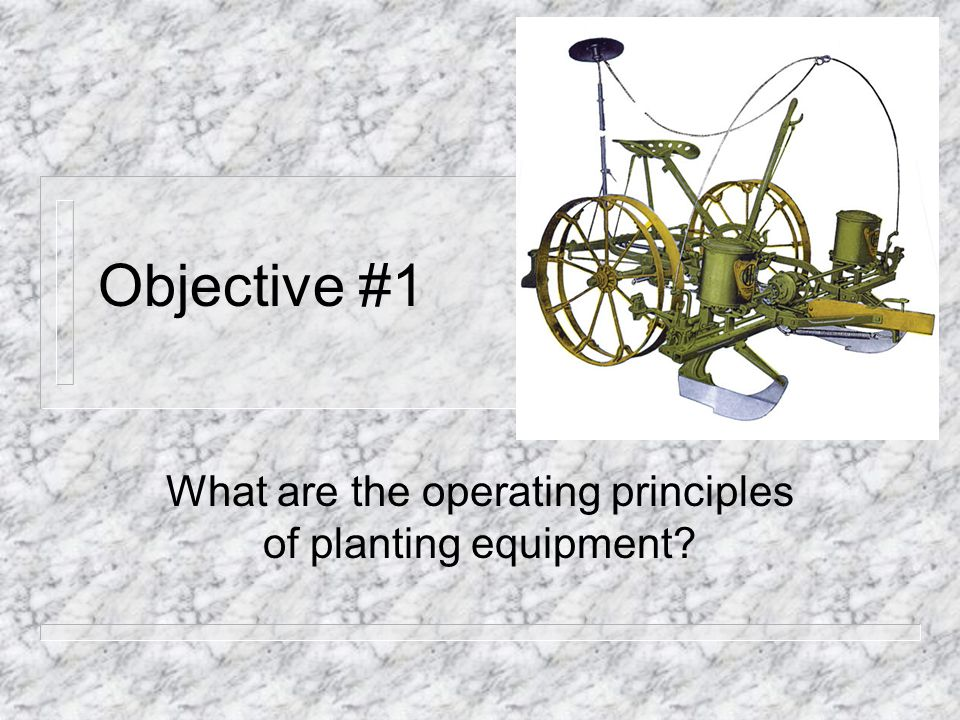 What are the operating principles of planting equipment