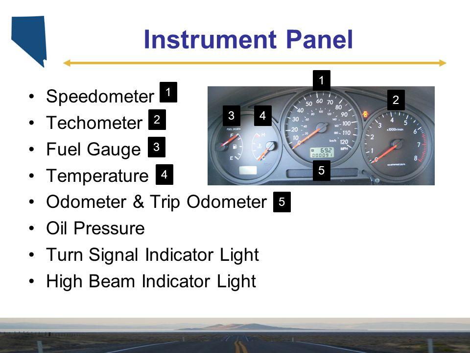 Instrument Panel Speedometer Techometer Fuel Gauge Temperature