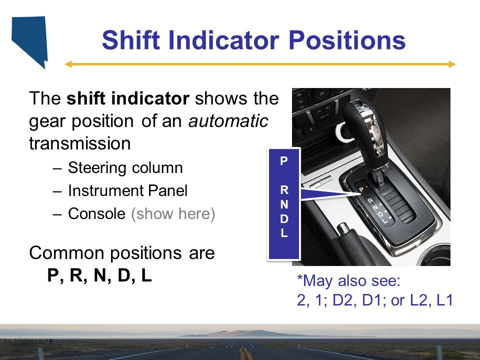 Shift Indicator Positions
