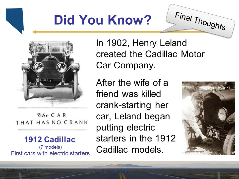 First cars with electric starters
