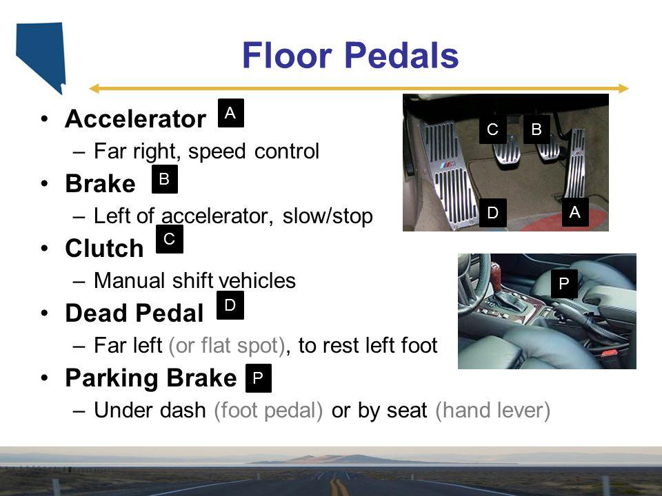 Floor Pedals Accelerator Brake Clutch Dead Pedal Parking Brake