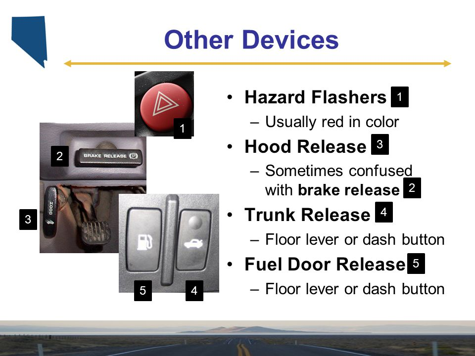 Other Devices Hazard Flashers Hood Release Trunk Release