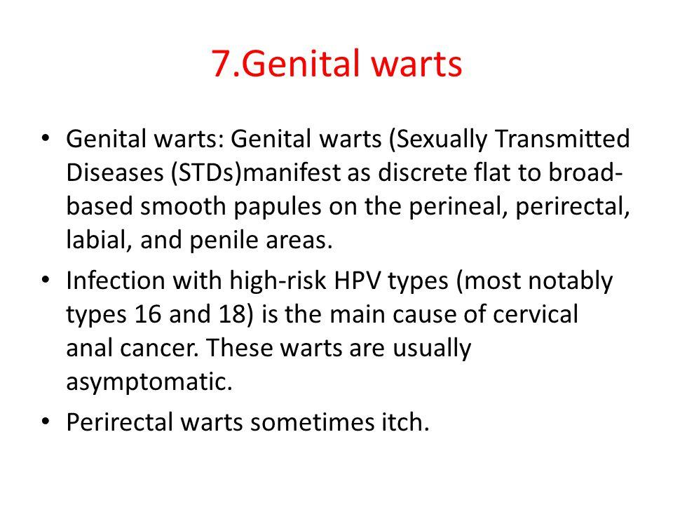 7.Genital warts