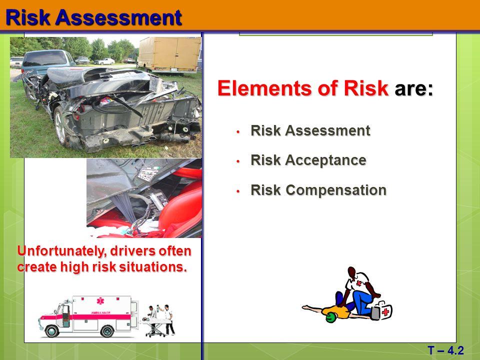Risk Assessment Elements of Risk are: Risk Assessment Risk Acceptance