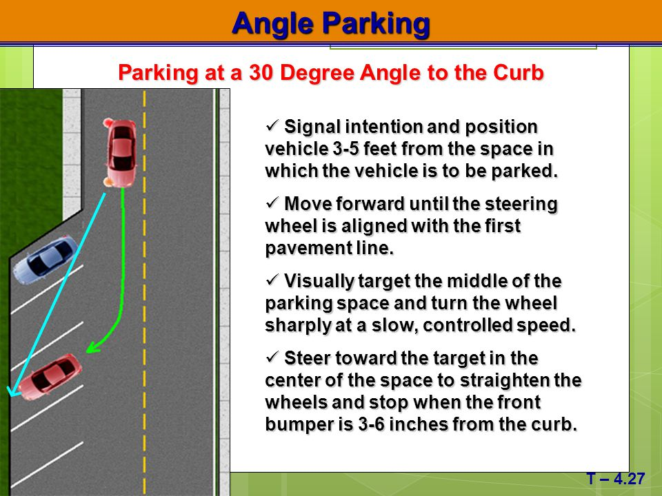 Parking at a 30 Degree Angle to the Curb