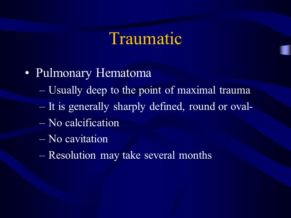 Traumatic Pulmonary Hematoma