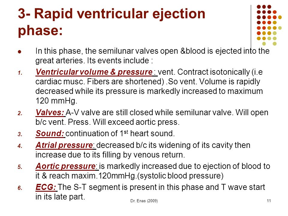3- Rapid ventricular ejection phase: