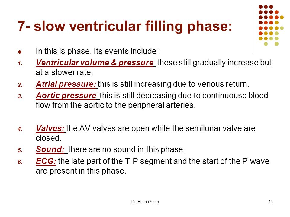 7- slow ventricular filling phase: