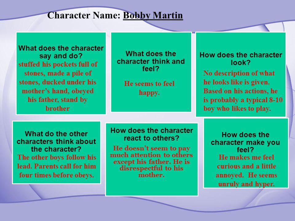 Character Name: Bobby Martin