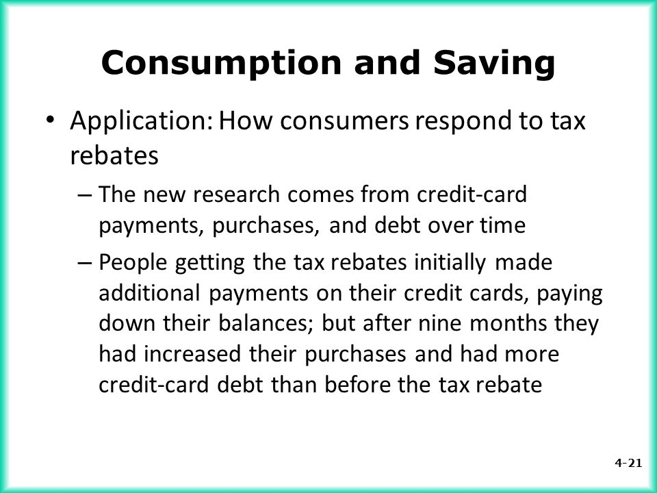 Consumption and Saving