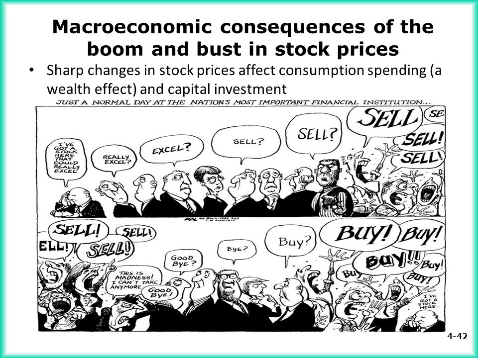 Macroeconomic consequences of the boom and bust in stock prices