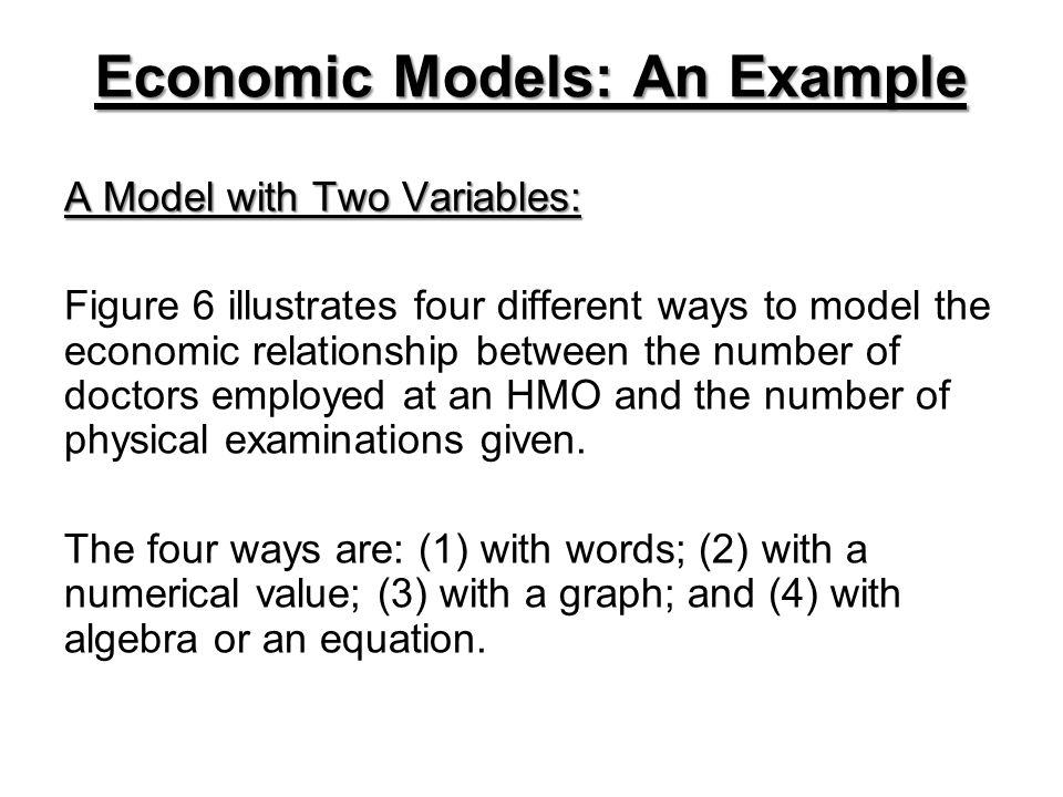 Economic Models: An Example