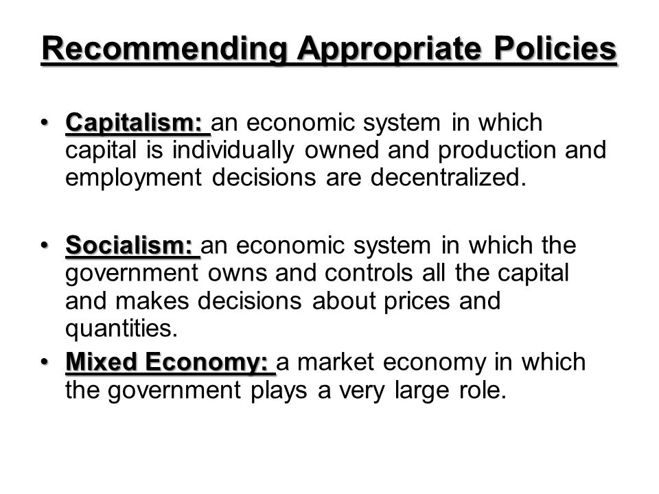 Recommending Appropriate Policies