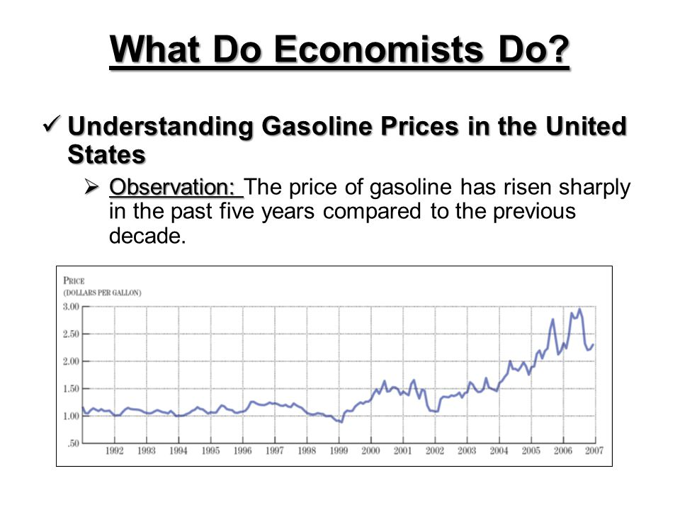 What Do Economists Do Understanding Gasoline Prices in the United States.