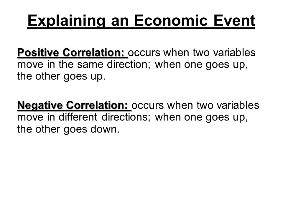 Explaining an Economic Event