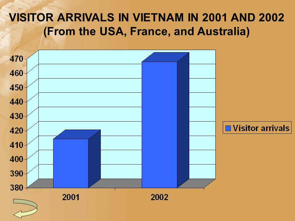 VISITOR ARRIVALS IN VIETNAM IN 2001 AND 2002