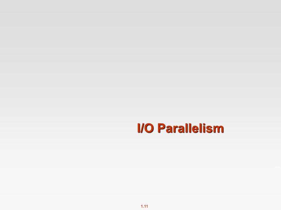 I/O Parallelism