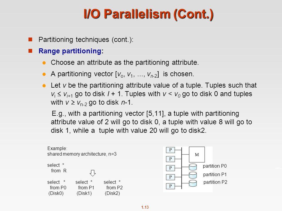 I/O Parallelism (Cont.)