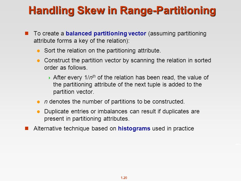 Handling Skew in Range-Partitioning