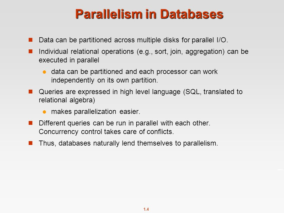 Parallelism in Databases