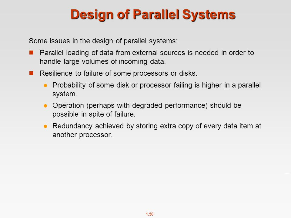Design of Parallel Systems
