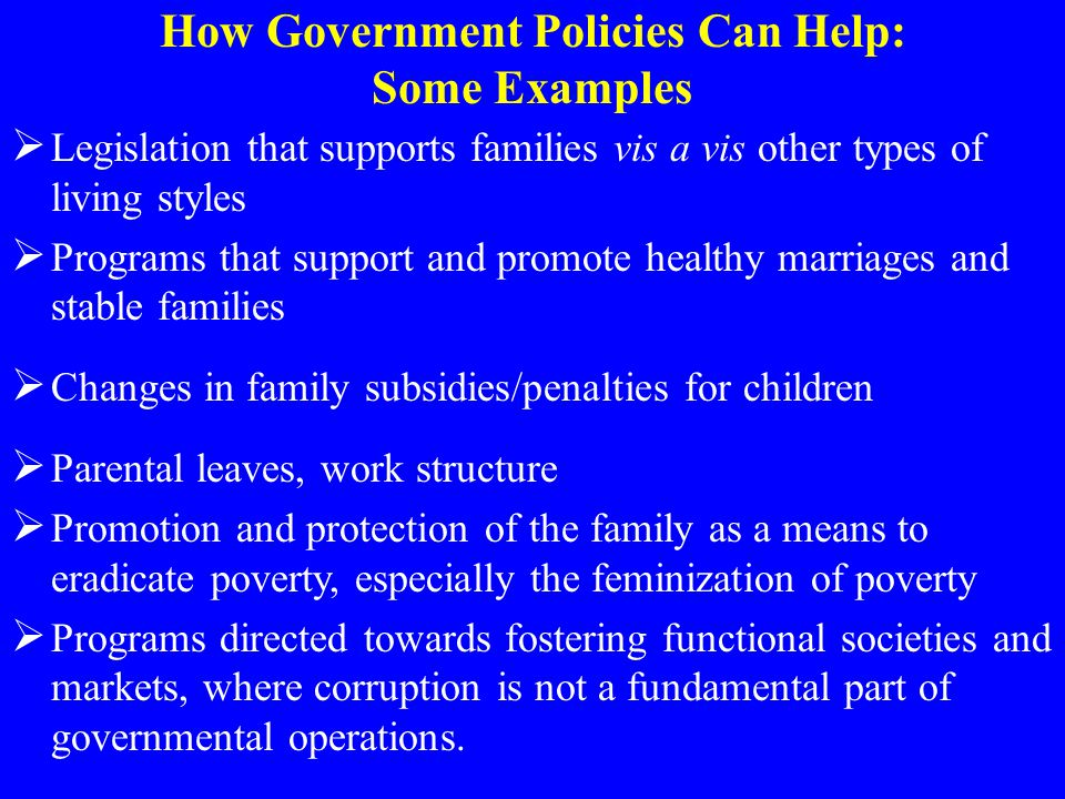How Government Policies Can Help: