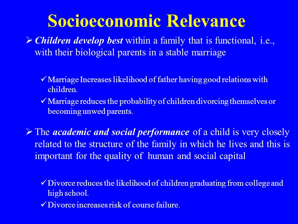 Socioeconomic Relevance
